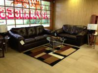Right here is an Ashley Furniture San Lucas couch & &