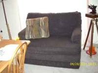 Furniture King furniture dark brown love seat, couch,