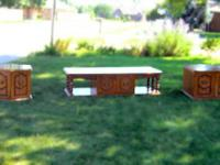 Three piece living room set. Old but in Excellent