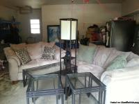 This set contains: Love Seat, Couch, 2 End Tables,