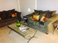 Complete living room set includes; end tables and