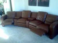 Six piece leather sectional, each piece is seperate so