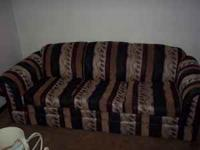 NICE LOOKING SOFA $25.00. ALSO HAVE A QUEEN BED FOR