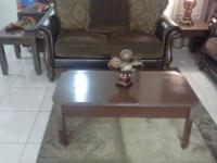 ? Set of 3 Living room solid wood table fresh paint,set