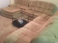 Very comfortable Plush top living room set: couch, love