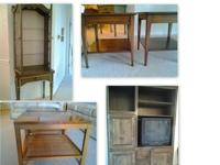 LIVING ROOM SET, COFFEE TABLES, END TABLES, CURIO