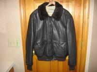 "LL Bean ""Flying Tiger"" bomber style jacket. . Collar is"