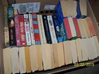 Lot of 36 Paper back books, mystery, romance, and many
