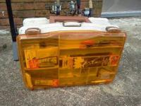 Plano tackle system tackle box full of lures. One