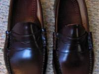 Bass Weejun's, size 11 2E (wide),  Received as a gift,