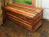 We have these local made cedar chest for just $85.00