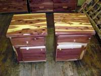 We have these local made cedar night stands for just