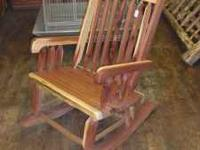 We have these local made cedar rocking chairs for just