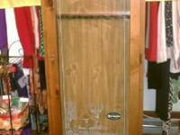 Real wood gun cabinet. Pristine condition, good