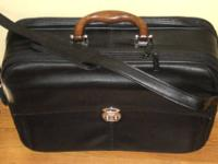 Lodis Black Laptop Briefcase Premier Italian Leather