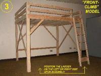 Lightly made use of loft bed. good condition. If