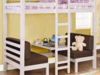 Childrens Convertible Loft Bunk Bed In Twin Size And