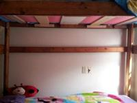 Loft Bed we used as bunk beds mattresses not included