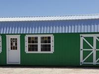 16'x40' Lofted cabin shell storage shed portable