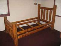 2 Twin log beds for sell 350 for both, nice sturdy hand
