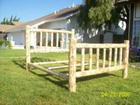 Queen log bed frames are $199 each include head