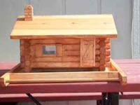 For sale, handmade log cabin bird feeder. These are