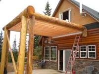 Log Deck with Stairs or not Log Corners, Siding,