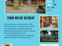 BEAUTIFUL LOG HOME FOR SALE/ 15 ACRES/POND 12192 Point