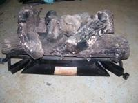 Log Insert for Fireplace. Uses LP or Gas-6 Log's, Extra