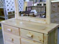This is an Natural finished White Pine Bed Full Size