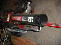 like new troy-bilt log splitter 27 tons of log