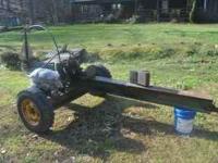Heavy-duty log splitter 6.5 Briggs and Stratton motor