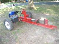 Log splitter, new engine with electric start 12volt.