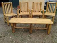 Check this one of kind log furniture. Selling due to