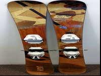 LOGIK Skis with K12 CTi bindings, skis appear NEW and