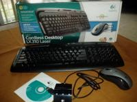 This Logitech cordless desktop keyboard is model LX310