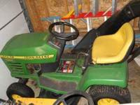 riding john deer lownmower 2 bags 375.00 firm call