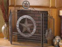ITEM NUMBER 12569 LONE STAR FIREPLACE SCREEN  ADD A