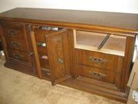 Very heavy 9 drawer long dresser with one drawer
