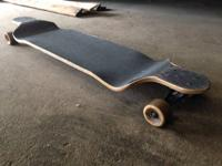 New school blank longboard deck with gull wing trucks