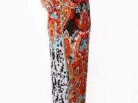 Lovely plus size floral maxi dress featuring multiple