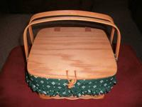 Brand  New Longaberger Basket.....measures 1' x 1' x 6""