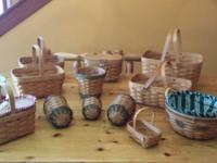 13 Longaberger baskets. The lot contains 2001 Mother's