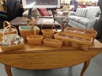 We've a significant assortment of Longaberger Baskets