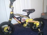 I have a small kids bike for sale with training wheels.