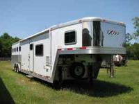 08 EXISS HORSE TRAILER 4 HORSE SL WITH LIVING QUARTERS.