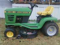 2000 John Deere STX 38 riding mower. grarage kept. No