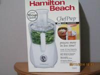 New Hamilton Beach 10 cup Food Processor. $30. Keurig 3