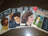 Look Magazines Jacqueiline Kennedy 1962,1964(2),1966,
