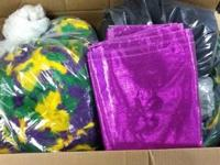 Mardi Gras craft supplies!!!! Ribbons galore, Feathers